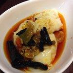 Shrimp Dumpling in Chilli Oil.