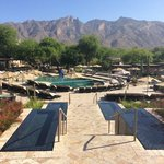 The Pool area looking at mountains