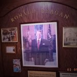 The portrait of Ronny Reagan, lovingly placed in the hall by the owners