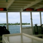 view from the scuba diving boat back
