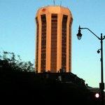 hotel from below