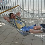 My son enjoying the hammocks.