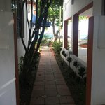 One of the walkways to the room.