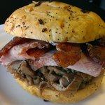 #12 THE BIG THREE - Dearborn Ham, roasted pork, applewood smoked bacon w/ mustard sauce