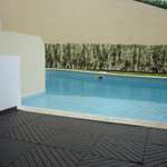 Walk Out Pool / Patio with Lounge & Swing