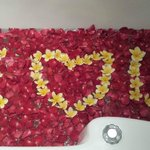 romantic spa bath