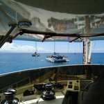 View from the top deck