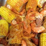 Steamed shrimp boil everyone is loving it