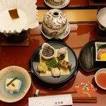 1st course of the kaiseki dinner