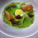 insalatina con uova di quaglia