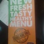 New not so fresh Menu