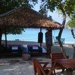 massage area on the beach