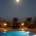 Full moon over the swimming pool.