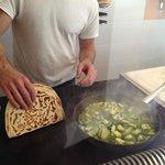 Gianni working his magic...