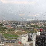 Rainy Day View from Executive Lounge