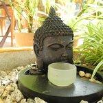 Zen Garden in Lemongrass Villa terrace