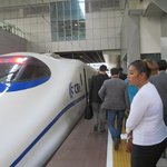 Modern Train-Travel from Hongqiao Station to Suzhou Was Only 30 minutes.