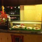 Sushi counter with no staff