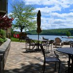 Rear patio overlooking Deep Creek Lake