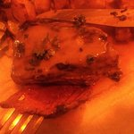 Good steak... funny lighting!