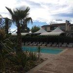 Vue piscine palmier 2014
