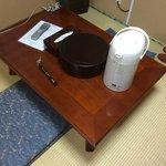 Table (Teapot, Teacups, Water boiler)