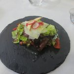 Salat /Granatapfel / Artischocken / Parmesan/Honig-Apfel-Vinegrette