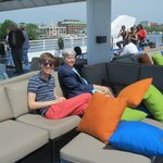 Enjoying the upper deck!