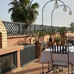 The Riad's rooftop terrace