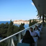 Breakfast with a great view of Dubrovnik Old Town
