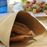 Acciughe fritte nel cartoccio