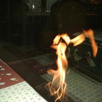 La danseuse agréable feu