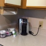 mini Keurig in each suite