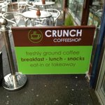 Freshly Ground Coffee. Breakfast, Lunch and Snacks