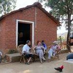 Hari and Kusum's court yard