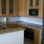 Kitchen area in our 2 bdrm. villa.