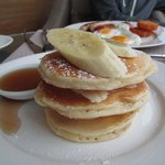 Buttermilk pancakes with bananas