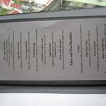 Part of the cooked-to-order breakfast menu