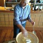 Cocinando la pasta en vivo