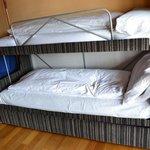 La cama donde durmieron las niñas