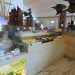 sala colazione :una piccola parte bancone giapponese