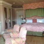 King bed room with Cannery Row view