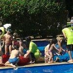 recreação infantil na piscina - ufc