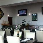 Beautiful interior of Sushi Taro!  Aesthetically pleasing! Beautiful owner Ming provides fresh f