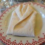 Une serviette pliée