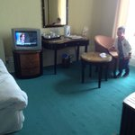 room dated, old tv thast buzzed