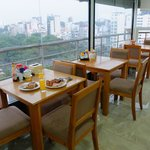 Dining area for breakfast buffet