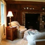 In-room fireplaces in our cottages