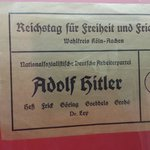 The election Ballet when Hitler was in power. Only his name on the ballot