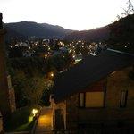 vista nocturna de san martin desde las cabañas